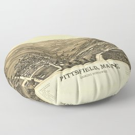 Aerial View of Pittsfield, Maine (1889) Floor Pillow