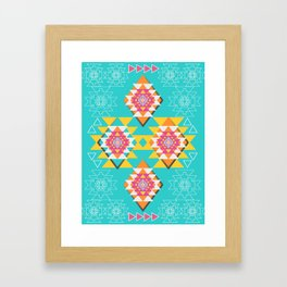 Happy tribal decor Framed Art Print