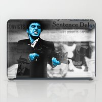 scarface iPad Cases featuring Tony Montana Scarface by Maxim Garg