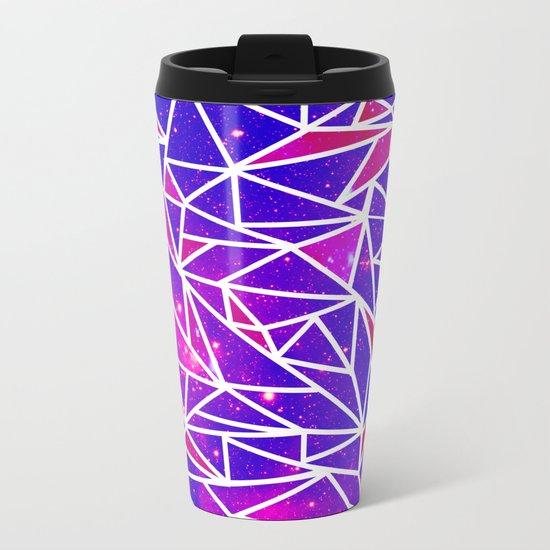 Starry Crystalline Space Pattern Metal Travel Mug