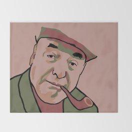 Pablo Neruda Throw Blanket