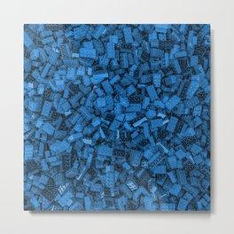 Master builder Blue Metal Print