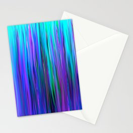 Purple and Blue Water Abstract Oil Painting Stationery Cards
