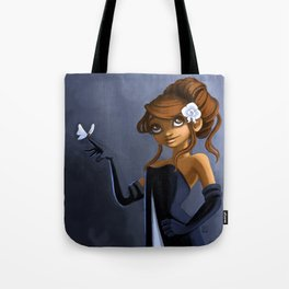 Sophie and butterfly Tote Bag