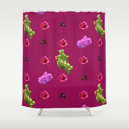 Flora and Fauna 2 Shower Curtain