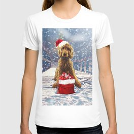 Christmas Golden Doodle T-shirt