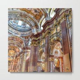 Baroque church collegiate church Metal Print