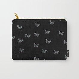 Silver Butterflies Carry-All Pouch