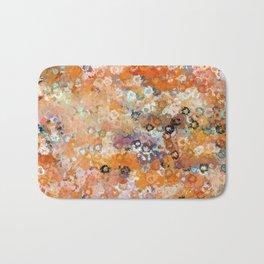 Blotchy Autumn Watercolor Pattern Bath Mat