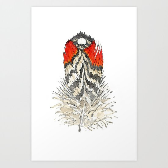 Red Feather - 03 Art Print