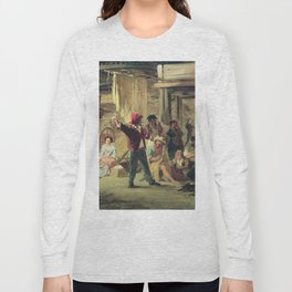 Backstage Of The Circus 1859 By Fyodor Bronnikov | Reproduction | Romanticism Painting Long Sleeve T-shirt