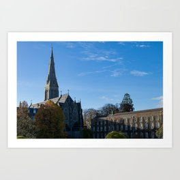 Church spire in Ireland Art Print