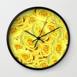 Candlelight Roses Wall Clock