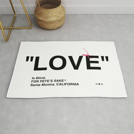 """LOVE"" Rug"