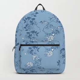 Chinoiserie in China Blue Backpack