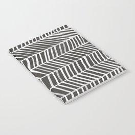 Herringbone – Black & White Notebook