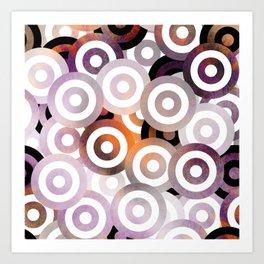 Purple Bullseye Art Print