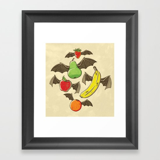 Fruit Bats Framed Art Print