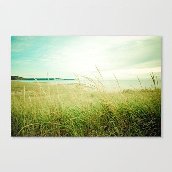 September at the Beach Canvas Print
