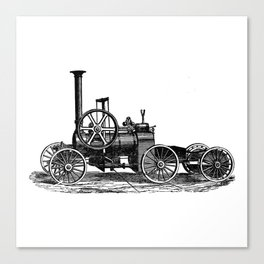 Steam car Canvas Print