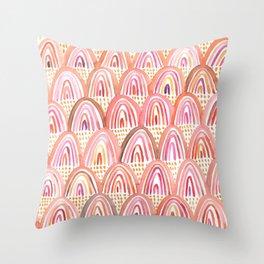 Pink Rainbows Throw Pillow