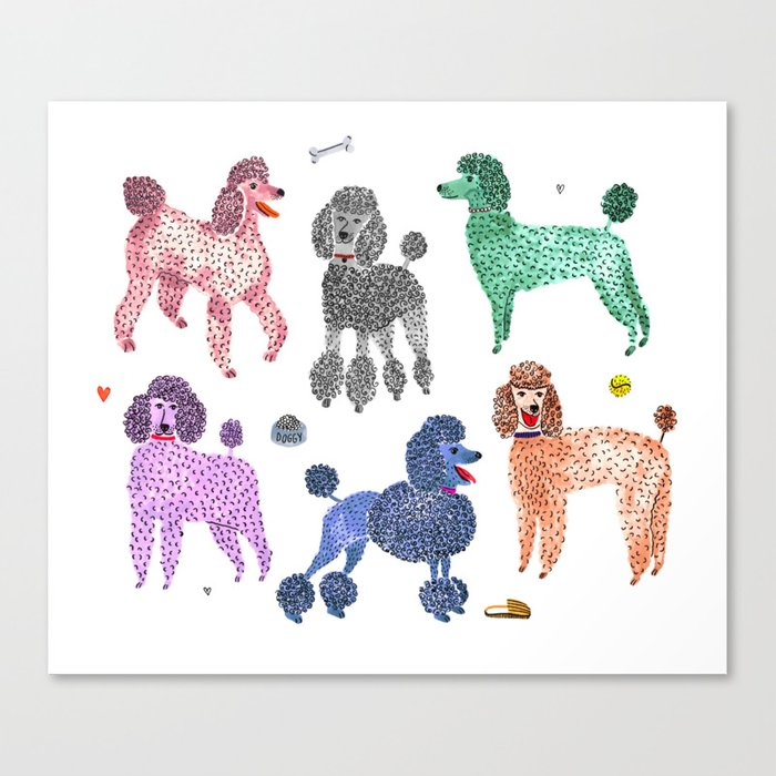Poodles by Veronique de Jong Leinwanddruck