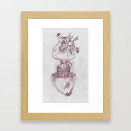 Grenade heart Framed Art Print