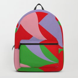 Two red squares and a Squared hole Backpack