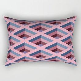 SQUARE HOLES / pale pink / marine blue / ancient pink / violet dark Rectangular Pillow