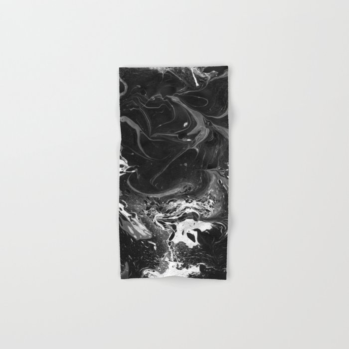 // MARBLED BLACK // Hand & Bath Towel