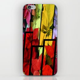 Mixed color Poinsettias 1 Tinted 2 iPhone Skin