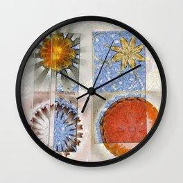 Goondie Fact Flower  ID:16165-095608-32641 Wall Clock