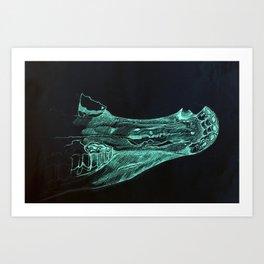 Horse skull Art Print