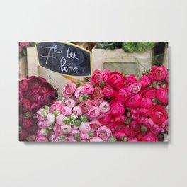 Paris Marché Flower Piles Metal Print
