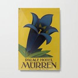 Palace Hotel Muerren Vintage Travel Poster Metal Print