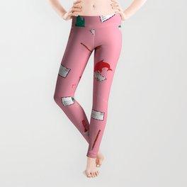 Pink Shark and Whale Shark Leggings