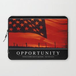 Opportunity: Inspirational Quote and Motivational Poster Laptop Sleeve