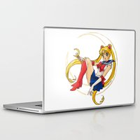 sailor moon Laptop & iPad Skins featuring Sailor Moon by Brittany Ketcham