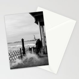 Liberty from the back of The Boat Stationery Cards
