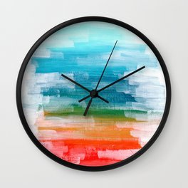 Ejaaz Haniff Colorful Abstract Acrylic Painting 'Lost Paradise' Wall Clock