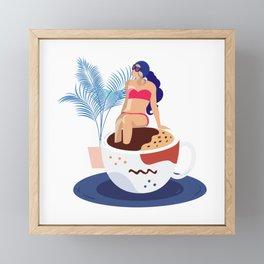 Coffee Time, Bohemian scene Framed Mini Art Print