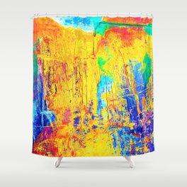 Imaginäre Landschaft - Ölgemälde auf Leinwand Shower Curtain