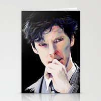 cumberbatch Stationery Cards featuring Benedict Cumberbatch by Hash