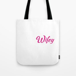 Trucker Wifey Supportive Spouse Traveler T-Shirt Tote Bag