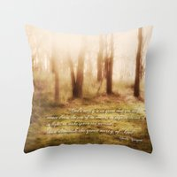 forrest Throw Pillows featuring Forrest by Terri Ellis