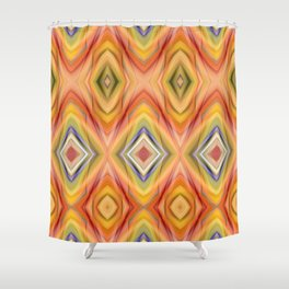 pattern orange Shower Curtain