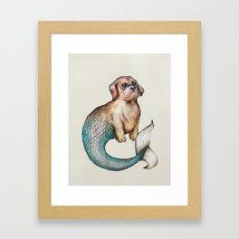 Franklin, the Merpuppy Framed Art Print
