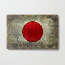 National flag of Japan - Super Grunge Metal Print