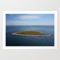Nash Island Lighthouse Art Print