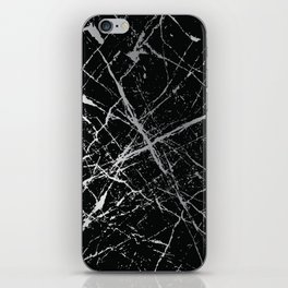 Silver Splatter 090 iPhone Skin